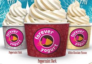Forever Yogurt Swirls in the New Year with Peppermint Bark Froyo
