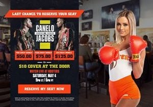 Hooters to Show Canelo Alvarez vs Daniel Jacobs