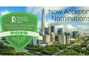 Restaurant Technology News Announces the Launch of the Restaurateurs' Choice Award for Environmental Good