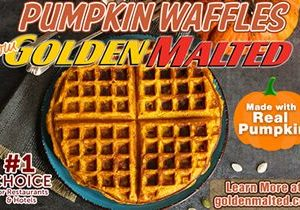 Serve Pumpkin Waffles this Fall – Golden Malted Makes it Quick & Easy