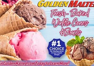 Add Fresh Baked Waffle Cones and Bowls to Your Menu – Golden Malted Makes it Easy