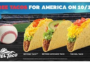 Free Tacos for America at Del Taco on 10/30