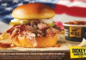 Dickey's Barbecue Pit Honors Those Who Served With Free Barbecue This Veterans Day