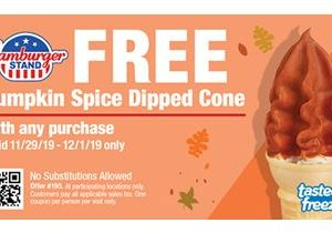 Make Your Post Holiday Outings a Little Sweeter This Weekend with a Free Pumpkin Spice Dipped Soft Serve Cone from Hamburger Stand