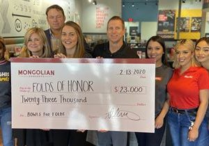 Genghis Grill Donates $23,000 to Folds of Honor