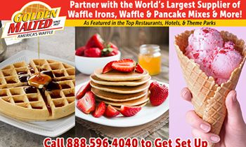 Partner with Golden Malted – the World's Largest Supplier of Waffle Irons, Waffle & Pancake Mixes & More!