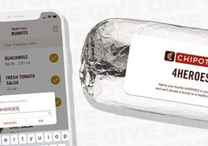 """Chipotle Launches """"4HEROES"""" Buy One, Give One Program"""