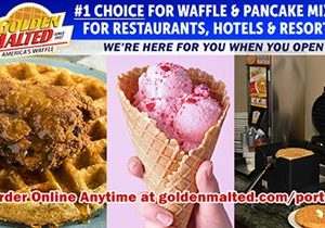 Golden Malted is Here When You Open – #1 Choice for Waffle & Pancake Mixes for Restaurants & Hotels