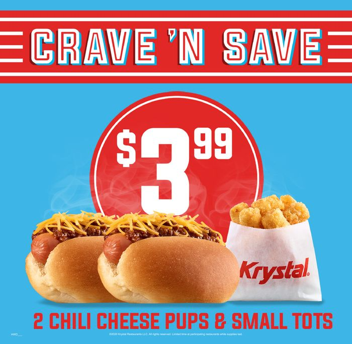 Krystal Celebrates Summer by Offering $1 Chili Cheese Pups