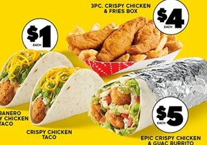 Del Taco Brings Bold New Flavors & Value to Crispy Chicken With Launch of New $1 Crispy Chicken Tacos and $5 Epic Burrito