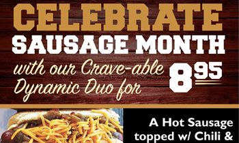"Crave Hot Dogs and BBQ Is Ready to Celebrate ""Oktoberfest"" Throughout October as Well as National Sausage Month!"