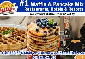 #1 Demanded Waffle & Pancake Mixes for Restaurants & Hotels – Quick Set Up with Golden Malted