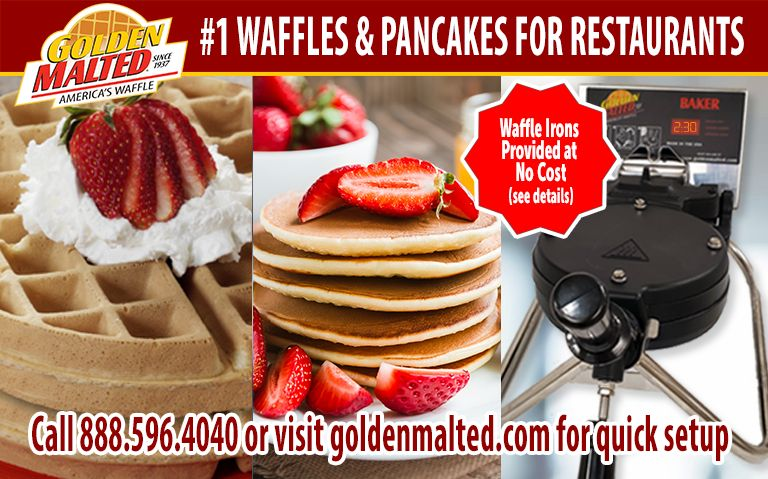 Add America's #1 Waffles & Pancakes to Your Menu - It's Quick & Easy with Golden Malted