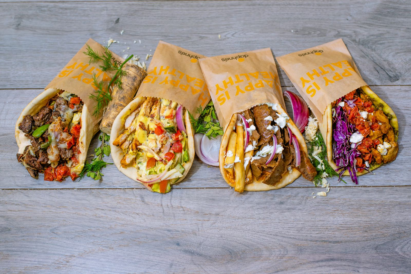 "Daphne's kicks off ""pita madness"" with the debut of four new pita sandwiches available for a limited time: the Zesty Steak Pita, Honey Chicken Pita, Cali Pita, and Shawarma Pita."