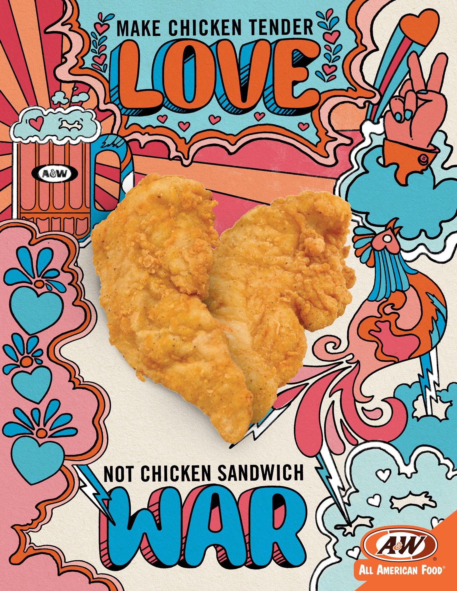 A&W Wants To Make Chicken Tender Lovin' Not Chicken Sandwich War