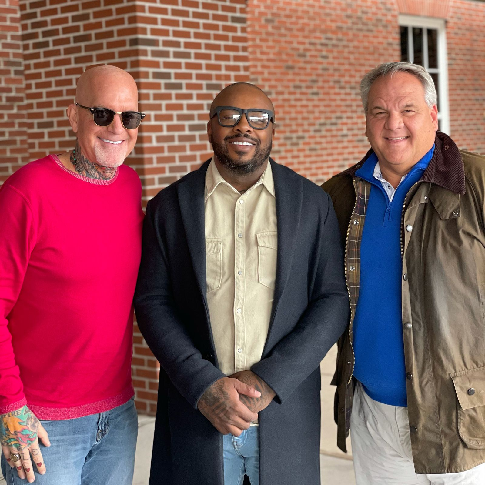 From left to right: FoodChing co-founders Greg George and Dennis McKinley with Michael Bennett.
