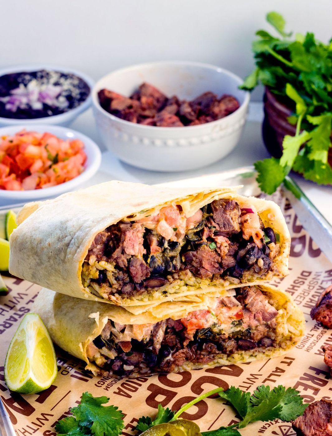 LIME Fresh Mexican Grill Carne Asada burrito