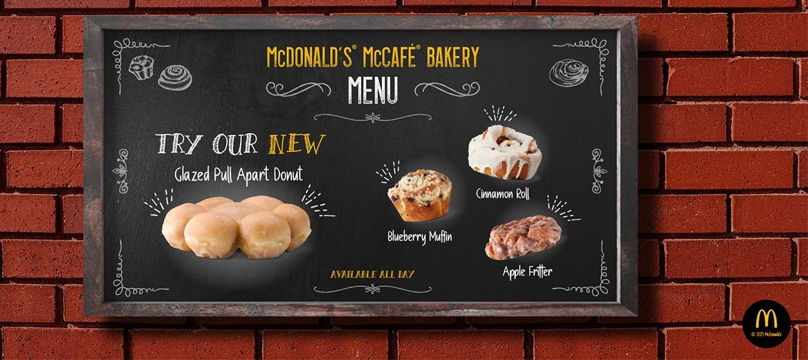 Attention Donut Lovers! McDonald's USA Adds New Glazed Pull Apart Donut to the McCafé Bakery Lineup