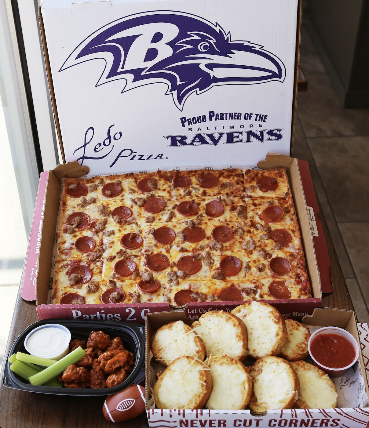 Ledo Pizza Continues Proud Partnership with the Baltimore Ravens