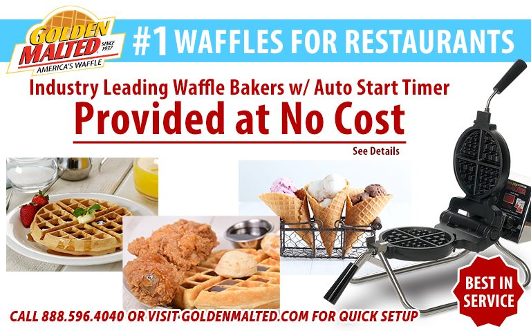 #1 Waffles for Restaurants - Golden Malted Provides Waffle Irons at Set Up