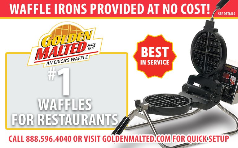 Serve America's Favorite Waffles - Golden Malted Provides Waffle Irons at Setup