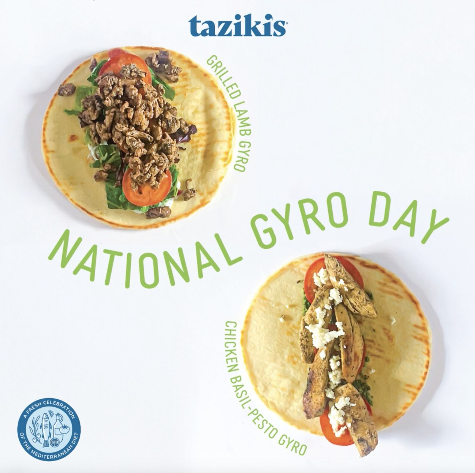 Taziki's Mediterranean Café Celebrates National Gyro Day by Encouraging Customers to Vote by Placing Orders
