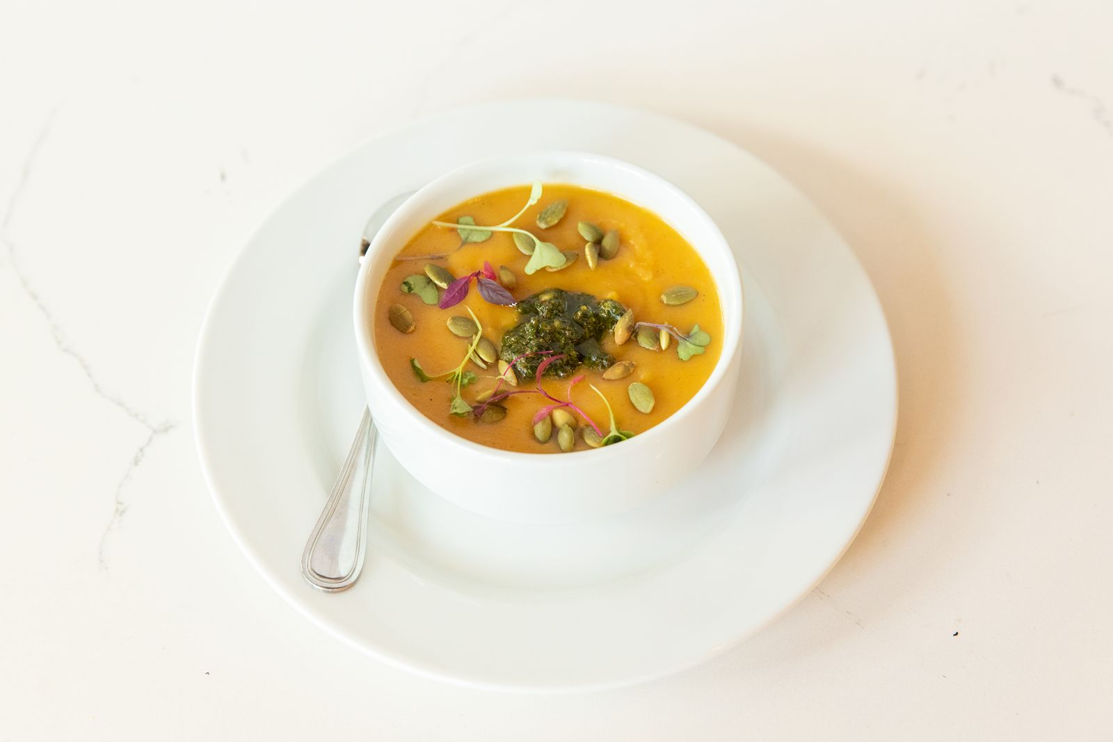 bellagreen Butternut Squash & Pesto Soup