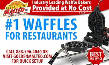 #1 Waffles for Restaurants – Waffle Irons Provided at No Cost with Golden Malted